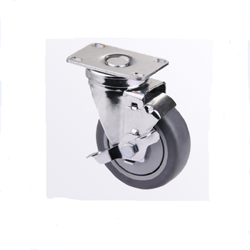 PP Swivel castor wheel with brake