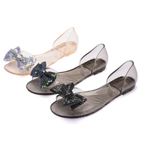 Spring And Summer New Plastic Jelly Crystal Fish Mouth Sweet Beauty Women Sandals