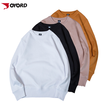 100% Cotton 460g Wholesale Sweatshirt Crewneck Knitted Blank