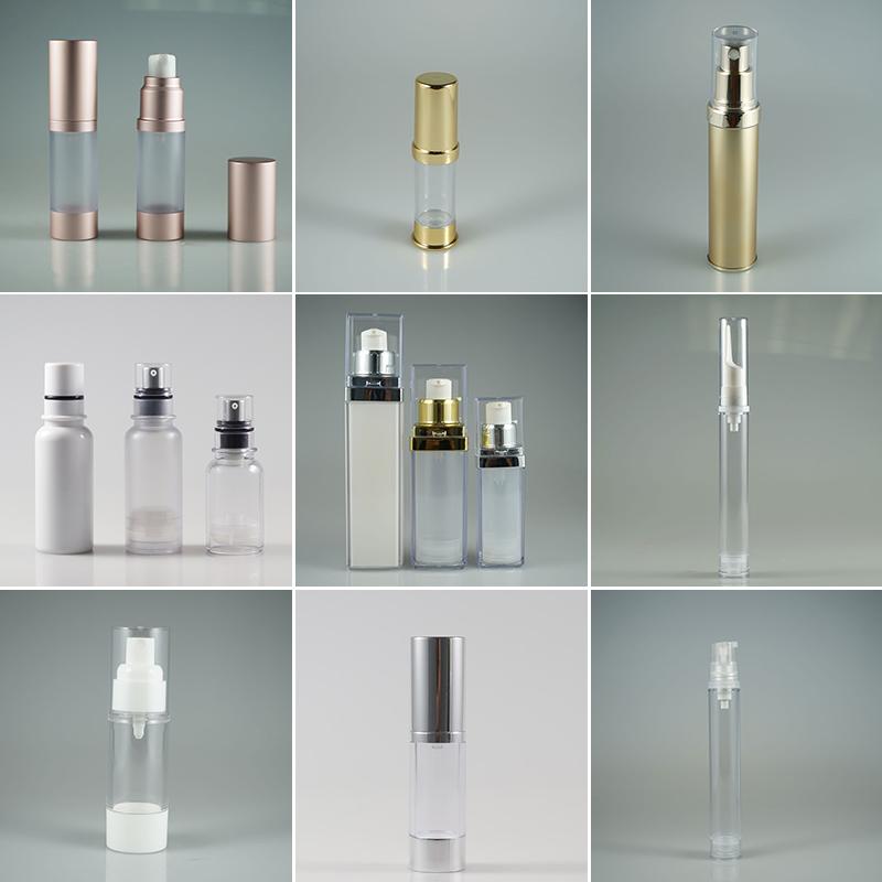 30 ml 50 ml Plastik Havasız Pompa Vakum Şişeleri Boş Taşınabilir Kozmetik Kapları losyon pompa şişesi cilt bakımı için