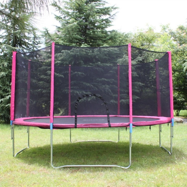 outdoor large fitness trampoline with foam pit