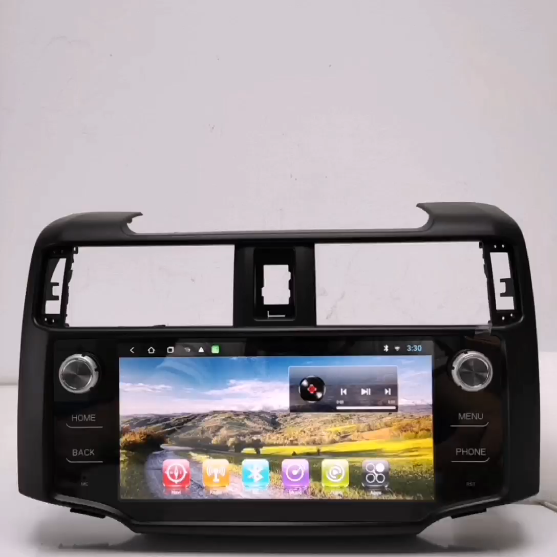 2020 Hot sale Newnavi Android 9/10 built in wifi car DVD palyer car GPS navigation for Toyota 4 runner with high quality