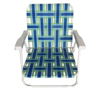folding steel frame Collapsible Chair Leisure PE belt band beach chair With Good Prices