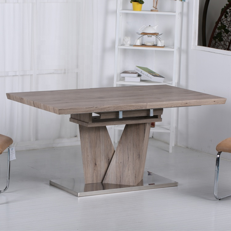 China modern contemporary home furniture extendable MDF wooden dining table