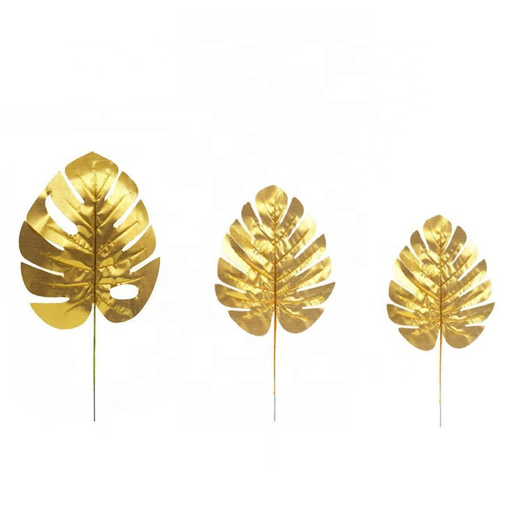 Hawaii Tropical Gold Palm Leaf For Carnival Party Supplies Luau Dance Decorative