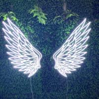 Customized Angel wings 3D clear acrylic led neon letters sign light decoration electronic signs