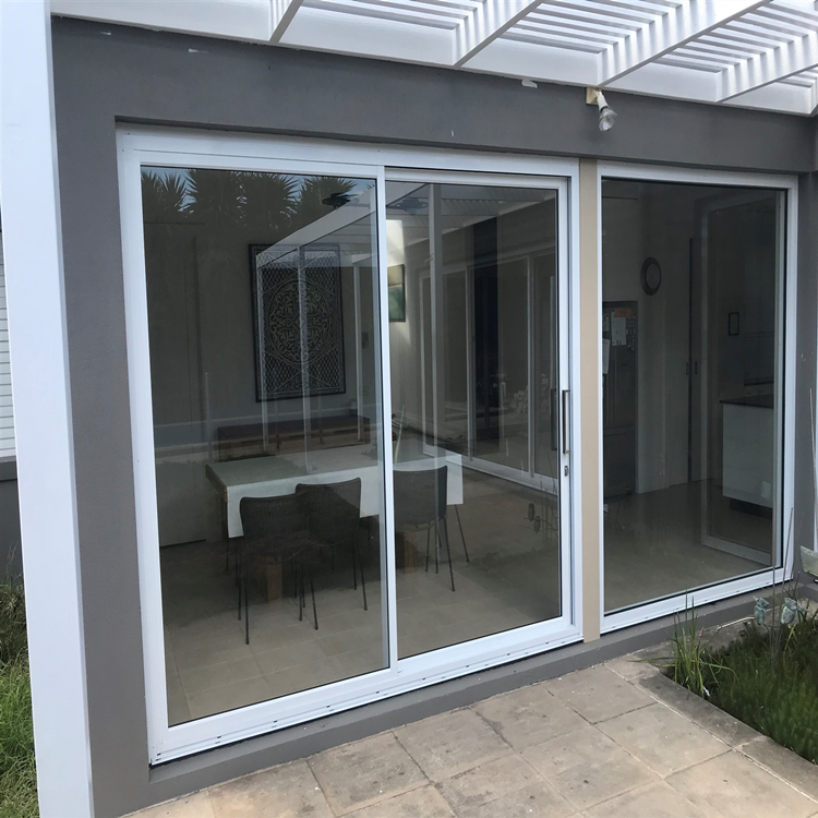 Customized new Commercial Series philippines Aluminum Frame glass sliding door price