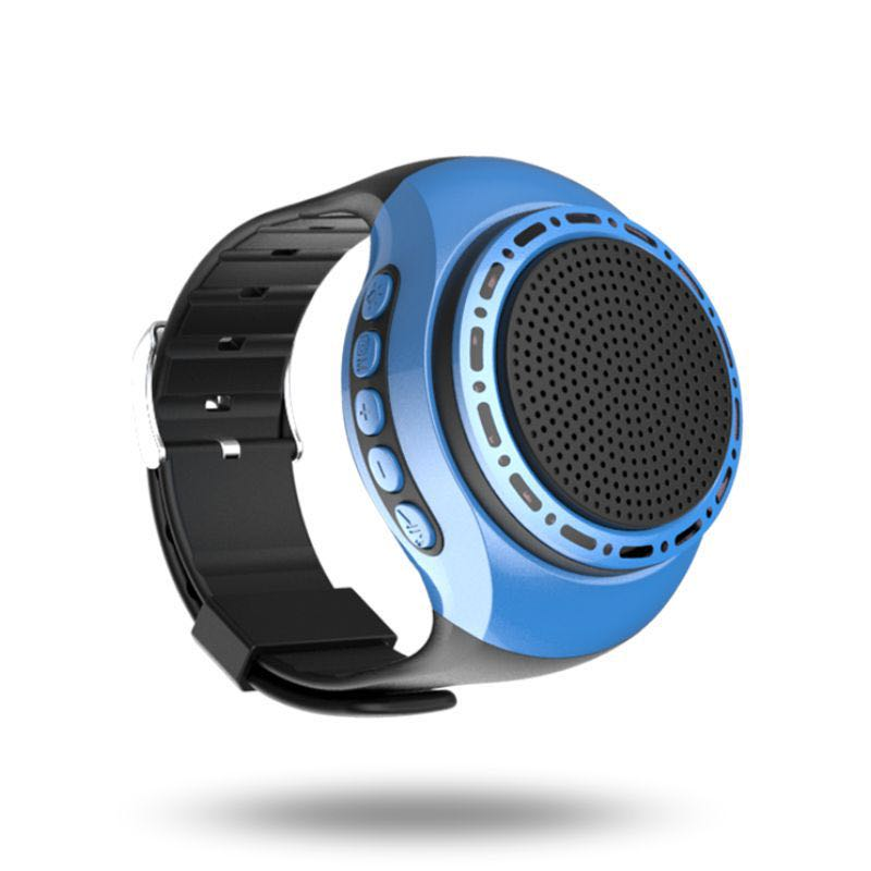 Wrist band wireless bluetooth speaker Sports Music Player wearable speaker Smart Watch (Blue)