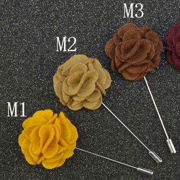 Solid color felt fabric brooch for birthday