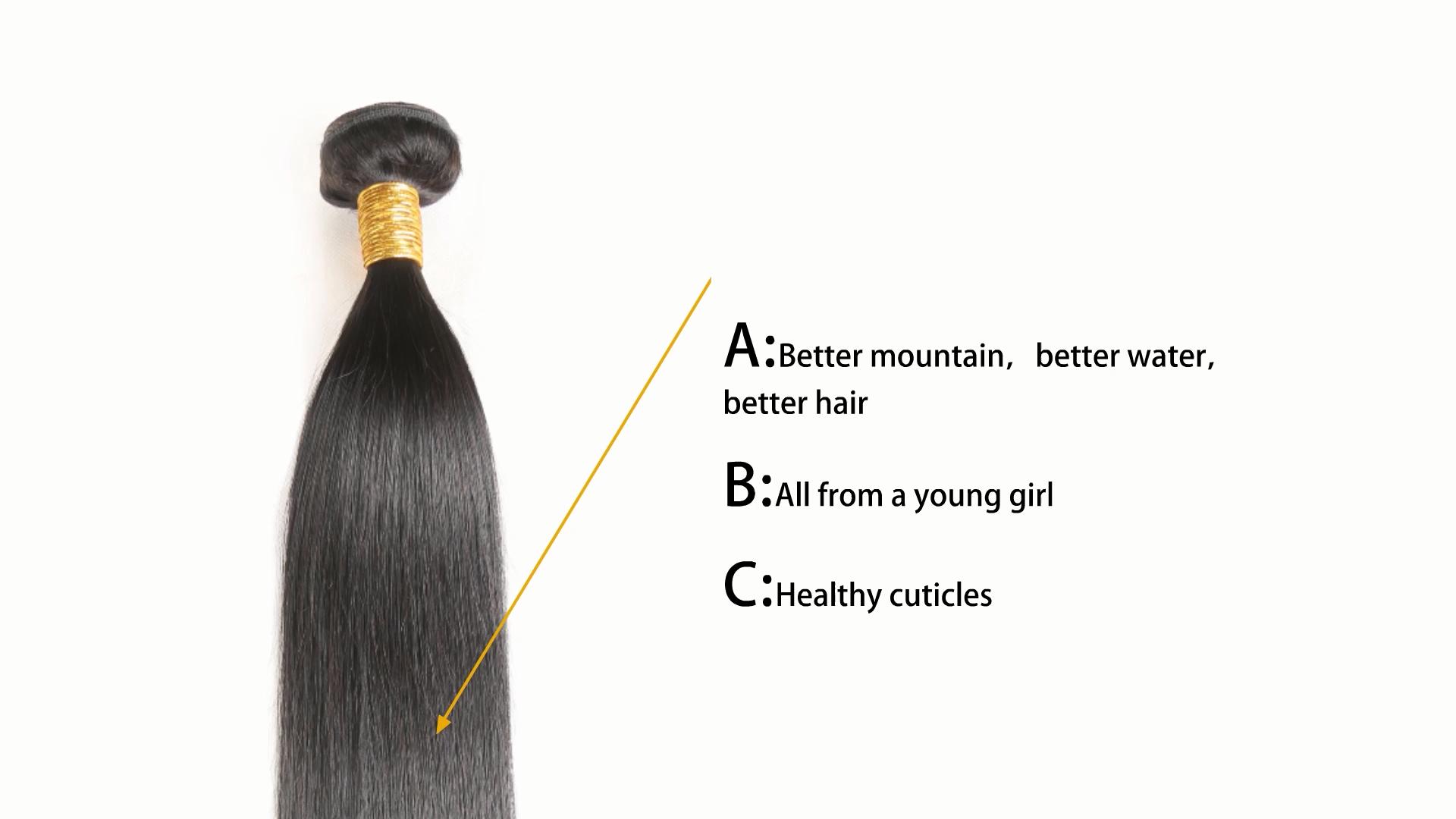 סיטונאי ספקי 100% רמי טבעי כפול נמשך מינק גלם בתולה שיער טבעי צרור לציפורן מזדהית ברזילאי שיער
