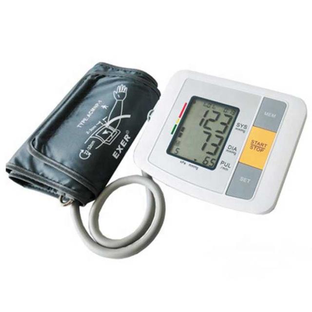 מכירה לוהטת שרוול המד לחץ דם עליון זרוע tensiometro דיגיטלי בית שימוש רפואי ציוד עם המחיר הטוב ביותר