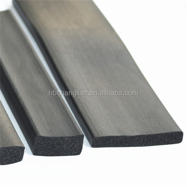 Rectangle shape silicone  foam rubber seal