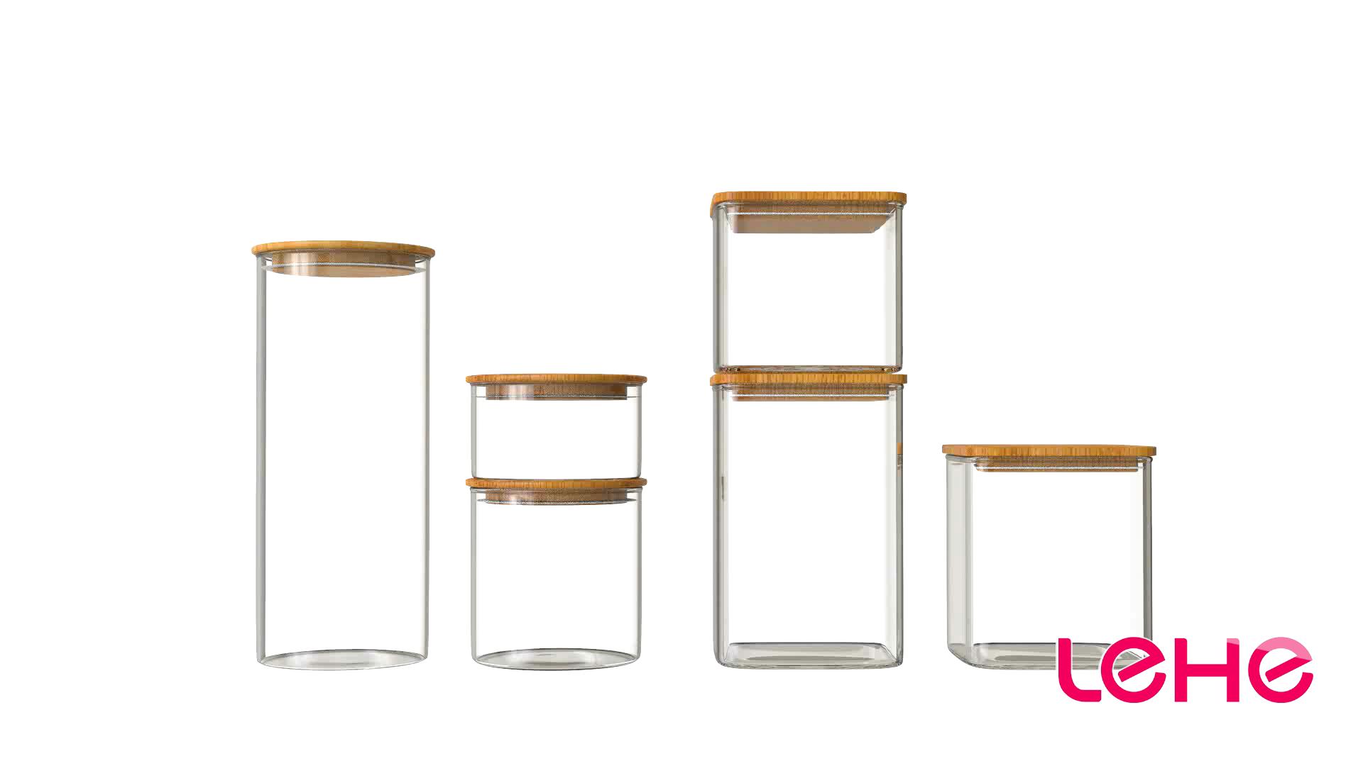 Di vendita caldo barattoli di spezie ambra candela vaso di vetro di stoccaggio per i commerci all'ingrosso