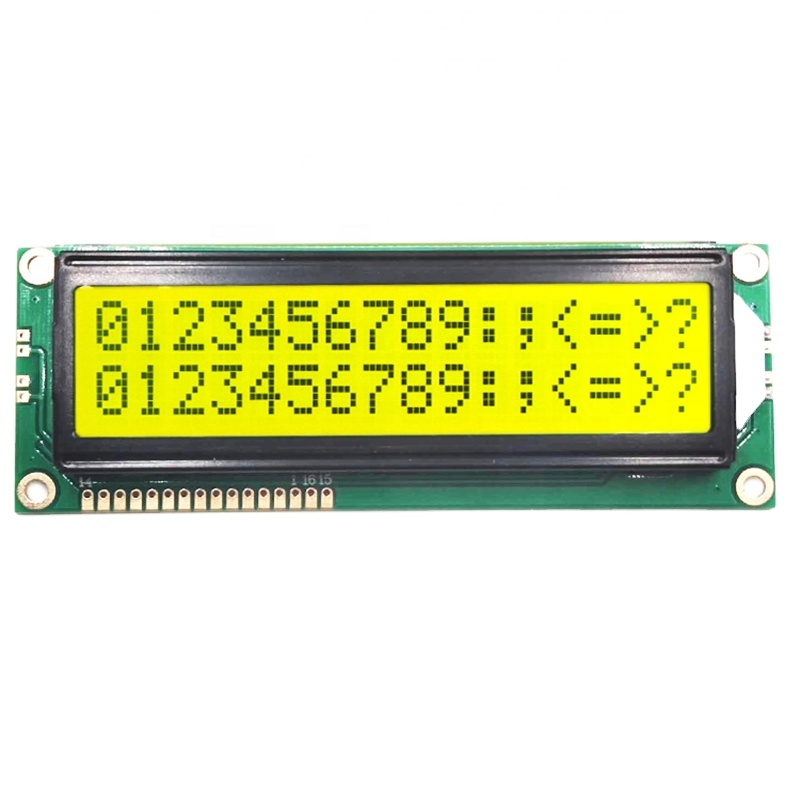 15 years factory and factory price <strong>lcd</strong> cob1602 yellow-green 16x2 big character lcm <strong>lcd</strong> display module