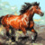 Modern Style Beautiful Painting Animal Horse DIY Digital Oil Painting
