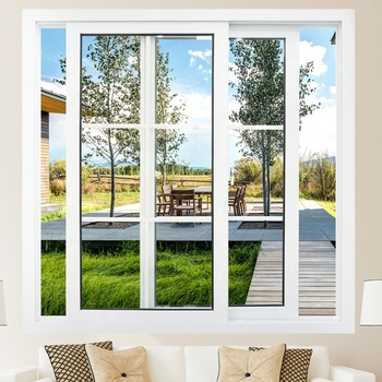cheap upvc/ pvc/ plastic glass sliding window price philippines