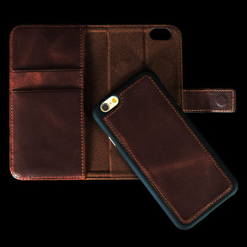 Hot Item Top Cow Leather For Iphone 6/7/8 Phone Case Holster With Wallet