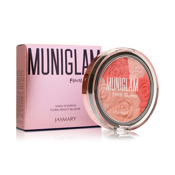 Face makeup long last mineral  with highlighter new design rose flower blusher