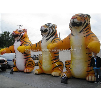 2020 Hot sale giant inflatable tiger, large inflatable tiger for advertising