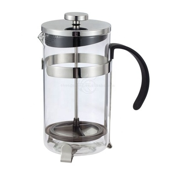 Amazon Hotsale 1000ml Glass Stainless Steel French Press Coffee Maker Manufacturers French Press Plunger