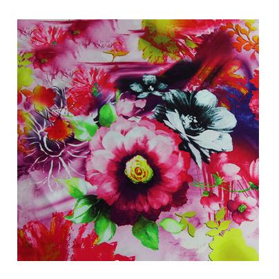 Customized Design 114*74 95GSM 60*60+30D Woven organic apparel fabrics digital textile printing cotton lycra