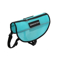 Breathable Airmesh Reflective Service Dog Harness Adjustable Vest Come With 2 Removable Patches , Large