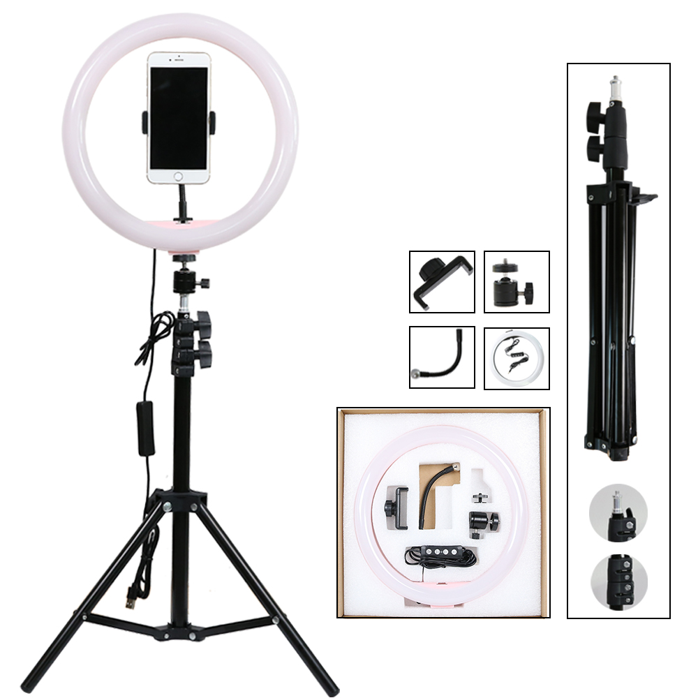 Wholesale factory price 2020 Amazon hot sale 10 inch led circle selfie ring light with tripod stand, selfie_ring_light//