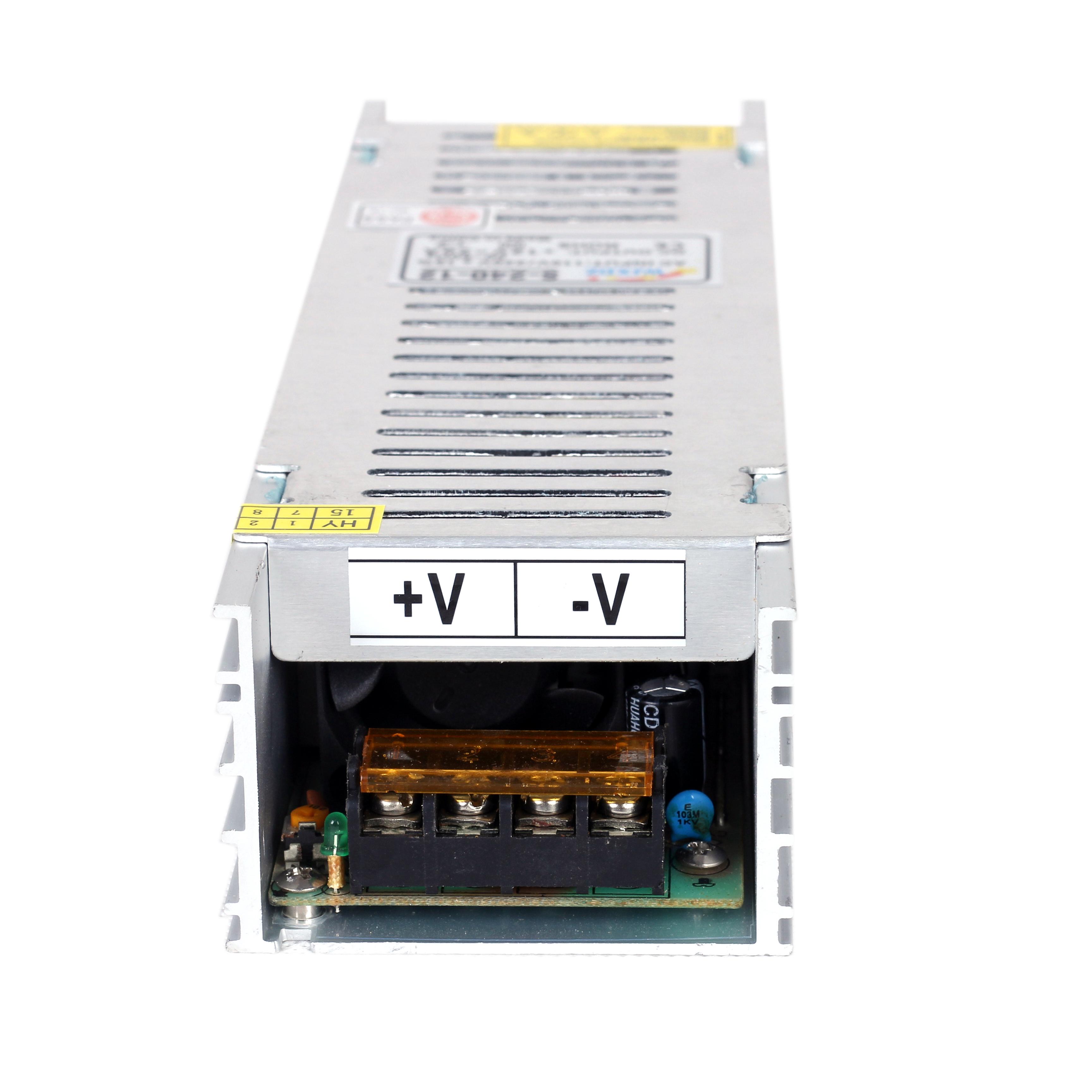ac to dc Led driver 12V 20A 250W slim led power supply for led strip led module led advertising lamp cctv camera