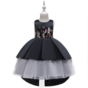 Girls Boutique Frock Design Fancy Party Dress Evening Ball Gown For Kids
