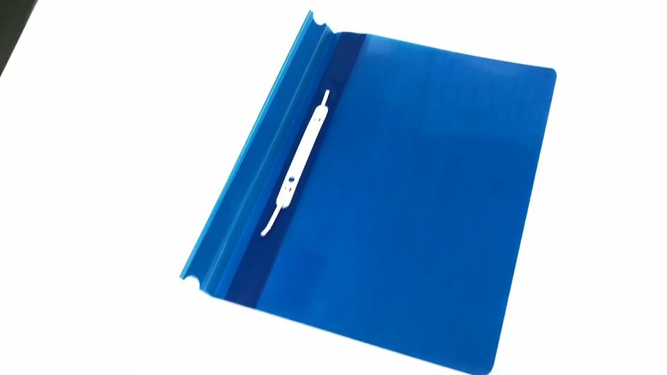 दस्तावेज़ फ़ाइल फ़ोल्डर पीपी प्लास्टिक क्लिप निविड़ अंधकार Oem स्वनिर्धारित लोगो आइटम पैकिंग कार्यालय स्टेशनरी दस्तावेज़ फ़ोल्डर