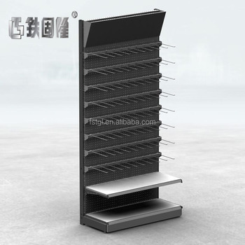 Factory customized back plate punching hanging display stand