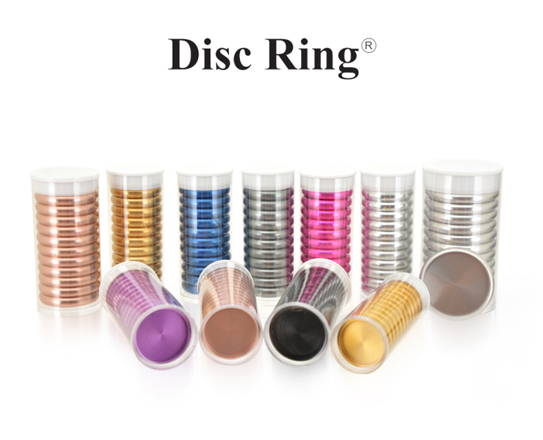 Aluminium disc ring retail packing for disc bind notebook and disc bound planner pack 11 pieces