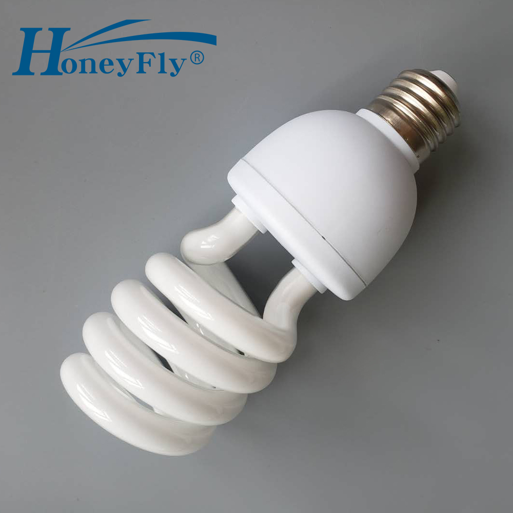 HoneyFly Voller Spirale Rohr Energiesparlampe AC220-240V 20 W/28 W E27 Hause Beleuchtung Hälfte Spirale Leuchtstofflampe birne