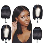Short BOB 130% Virgin Human Hair Lace Front Wigs Brazilian Hair Wig for Ladies