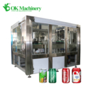 New Condition Automatic Steel Can Alcoholic Beverage Can Filling Sealing Machine Line
