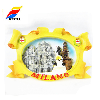 Personalized Hand Painting 3D Cities Theme Resin Refrigerator Magnet