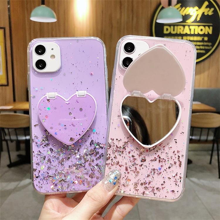 Do Brilho de bling Caso Espelho Para Samsung S10 Plus A50 A51 A70 A71 S8 S9 M31 Para o iphone X 11
