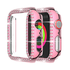 Full decorated Diamond case for Apple watch cover series 5 4 3 2 1   for apple watch bezel 44 42 40 38 mm