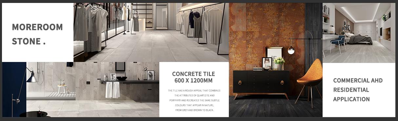 Baldosa de matt piso de gran tamaño de color gris azulejo rústico
