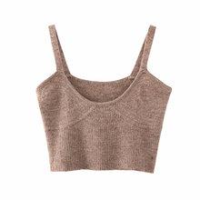 Весна 2020 модный вязаный свитер жилет женский сексуальный свитер без рукавов Туника шикарный спагетти ремень повседневный однотонный укоро...(Китай)