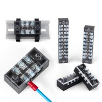 TB1503 terminal Brass conductor 15A 3P 600V double row screw terminal fixed type terminal blocks