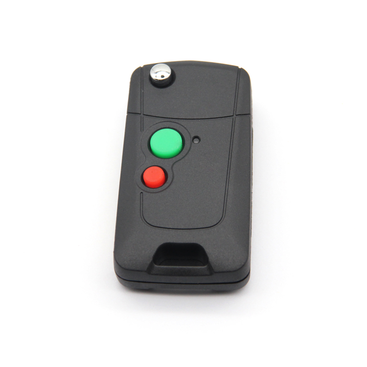 Waterproof Car Remote Key Shell Flip Car Key Case Durable Car Key Housing With Brass Blade 2 Buttons