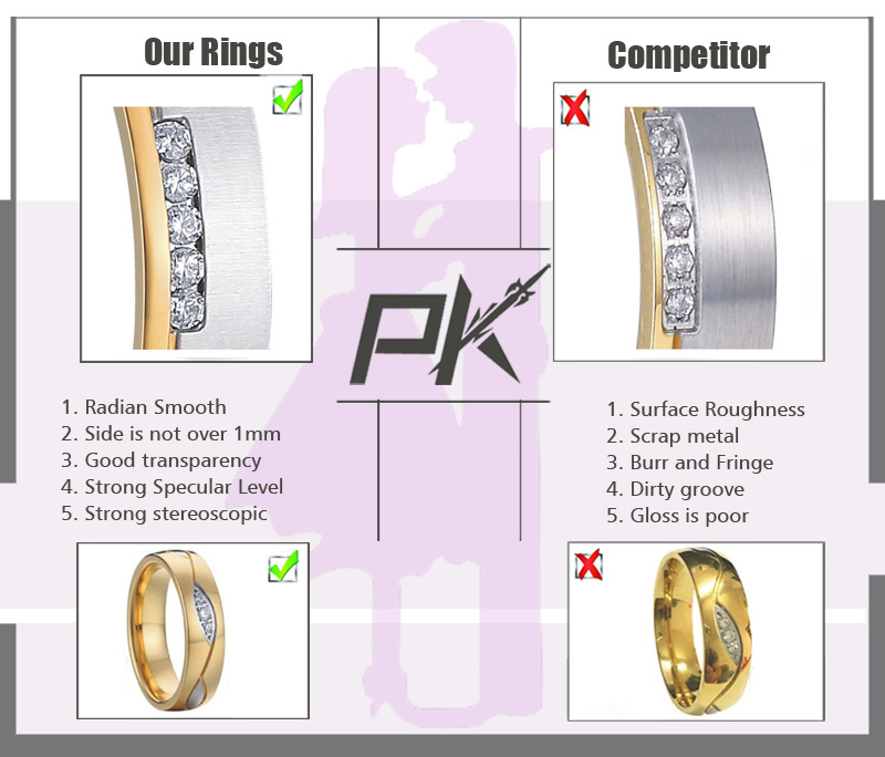 Golden Her King His Queen Ring Crown stainless steel Couple Rings Wedding Jewelry band for Lovers Engagement Promise Souvenirs