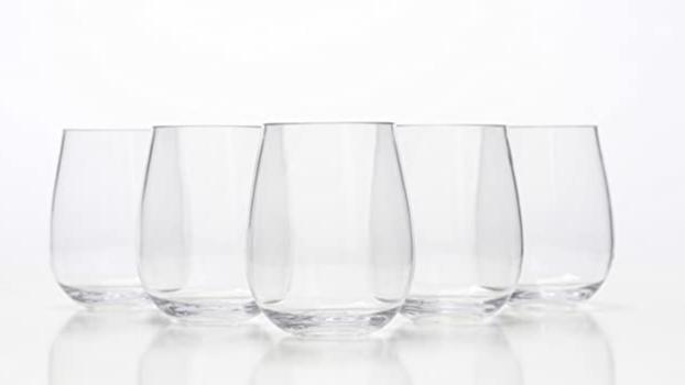 20Oz Unbreakable CrystalStemless Anggur Kacamata 100% Tritan Plastik Pecah Gelas Sempurna untuk Anggur Koktail