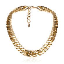 Женское колье-чокер в стиле стимпанк, массивное ожерелье золотистого цвета с цепочкой, 2019(Китай)