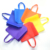 Full printing fashion popular reusable supermarket shopping d cut non woven grocery bag