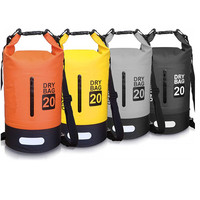 Fasion style OEM 500D PVC Outdoor Sports 5L 10L 20L 30L 40L Foldable Custom Logo Backpack camping waterproof dry bag