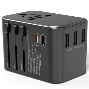Newest trending product 2020 dual type C 3usb PD 33.5W multi power adapter portable travel charger