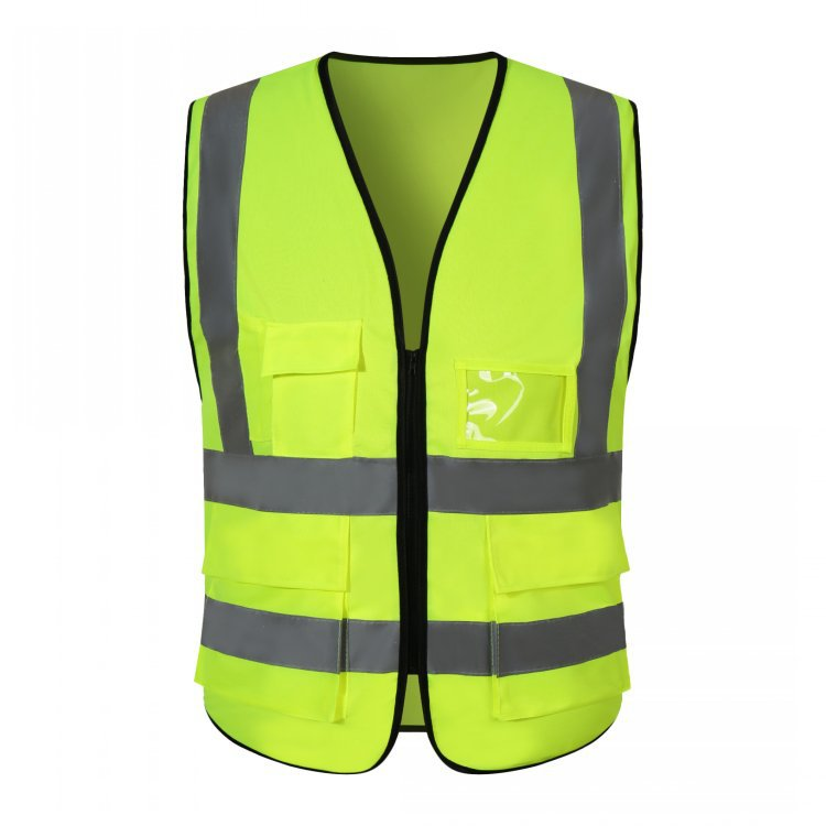 High quality  Road construction safety vests with multi pockets dry fit breathable  Reflective  tape Hi Vis vest