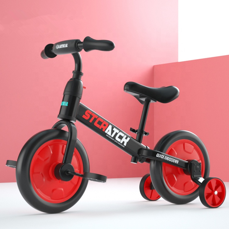 2019 new model 2 in 1 kids push balance bike with quick release button
